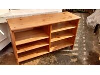 Solid Oak/ Pine Shelving Unit Bookshelf Storage TV Shelf Shelves Wooden Removable Height Adjustable
