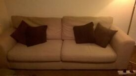 3 seater sofa and large (snuggler) armchair