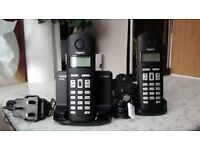 SIEMENS GIGASET AL140 CORDLESS TWO PHONE SYSTEM