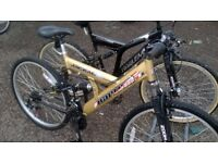 ADULT UNISEX HARLEM U S A DUEL SUSPENSION MOUNTAIN BIKES 2 OFF 26 IN WHEELS