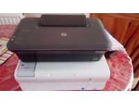 Two Old HP All-in-one Deskjet Printers Scanners - HP Deskjet 1050 and HP Deskjet F4280