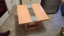 Pine coloured table
