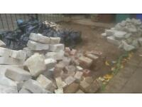 Free - bricks, broken concrete, breeze blocks and general rubble