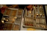 gold inlay 12place dinning set