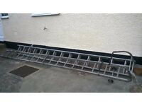 One extension ladder - 12ft 6 inch ans one cat ladder - 14ft
