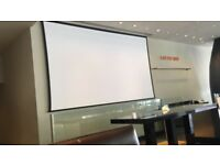 Cinema Screen + Projector Epson EB-G6650WU 6000 Lumen WUXGA Projector - White worth £15000