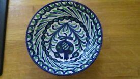 Vintage decorative deep dish