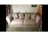 Cream Linen Chesterfield Sofa