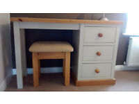Wax/truffle dressing table and stool