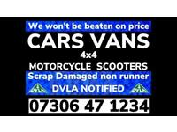 ♻️🇬🇧 SELL MY CAR VAN 4x4 CASH ON COLLECTION SCRAP DAMAGED NON RUNNING WANTED LONDON ESSEX