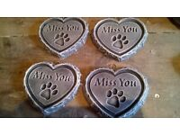 Heart shape Miss you cat paw print plaque great gift idea
