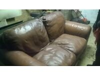 leather tan sofa free local delivery