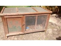 Rabbit Hutch and cover - reasonably good condition