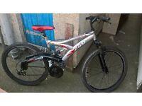 mountain bike 21 speed xrambler wheels fair condition for sale
