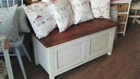 Painted Wooden Blanket box