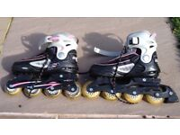 Adjustable rollerblades size 4-7