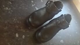 size 6 leather f&f ankle boots
