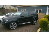 BMW X5 SPORT 3.0d EXCLUSIVE 2006 + PAN ROOF + 22s + FSH + REMAPPED 300bhp