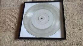 Framed Vinyl records x 7..