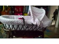 Moses Basket and solid rocking stand