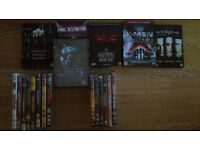 36 dvd movies and one dvd tv series for sale