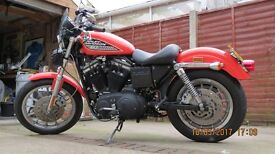 Harley Davidson 883R with 1200 conversion, 100yr anniversary model, just serviced new tyres priv reg