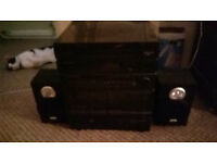 PHILLIPS HI FI RADIO TWIN TAPE PLAYER CD PLAYER AND TURNTABLE NEEDS ATTENTION POSSIBLY NEW BELT