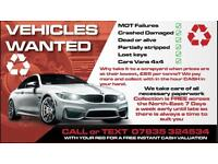 ♻️WANTED ALL VEHICLES CONSIDERED♻️CASH PAID♻️