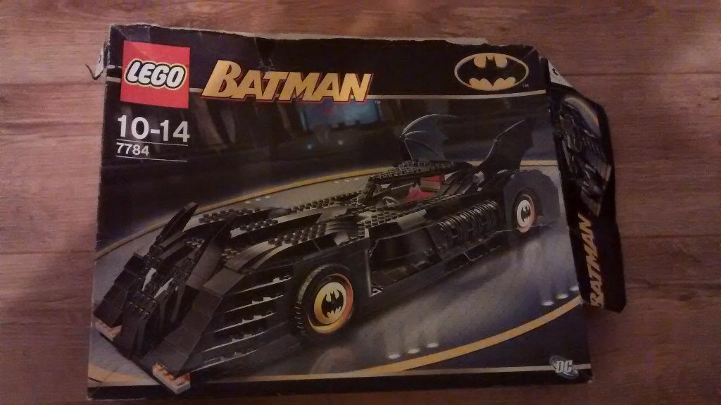 Retired Lego Ucs Batman Batmobile 7784 Used But Complete In