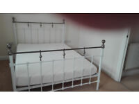 """Double bed 4'6"""" 6 months old, almost new top condition no scratches or damage."""