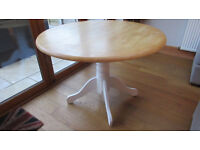 Solid Wood Round Kitchen / Dining Table - Pine / Oak - Upcycle