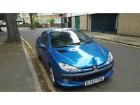 Peugeot 206 cc 2.0 ltr convertible 52 plate good runner very nippy for age
