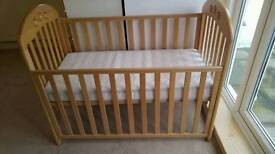 John Lewis Elena cot natural colour with mattress included
