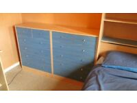 Bedroom Furniture - 2 chest of drawers and an overbed unit