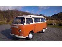 1971 VW early bay window pop top T2 camper van, RHD daily driver long MOT. tax exempt