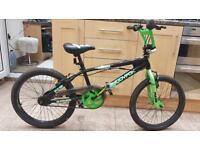 "Muddyfox BMX stunt bike. 20"" wheels. Hardly used bike"