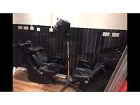 Hairdresser chairs and back washes