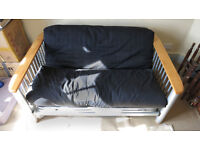 Double sofabed - metal frame and quality futon.