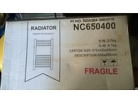 Electric towel radiator with thermostat - NEW, original packaging, 650mm x 400mm