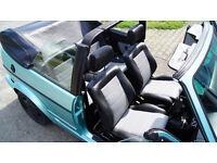 Golf mk1 cabriolet artificial leather seat covers in black, black/beige, black/grey or beige