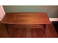 Vintage teak coffee table ideal for restoration