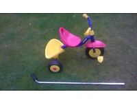 Child's Tricycle with parent handle