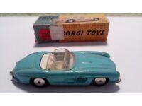 Corgi toy Mercedes 300 SL , box number 303..