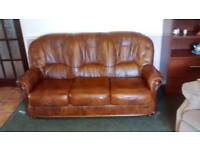 Three Seater Settee and one matching armchair