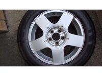 VW 2 x wheels 15''5x100 and BMW set 4 15'' 5x120