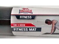LONSDALE Black Fitness Mat
