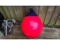 "Large red mooring buoy... 22"" - 17"" as new condition."