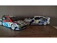 tamiya ford focus and ford escort rc cars