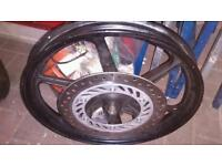 Cbr125 front wheel with disc