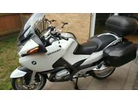 bmw motorcycle r1200rt white